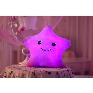 The Illuminator Purple Star Purple Cotton Color-changing LED Light-up Plush Pillow