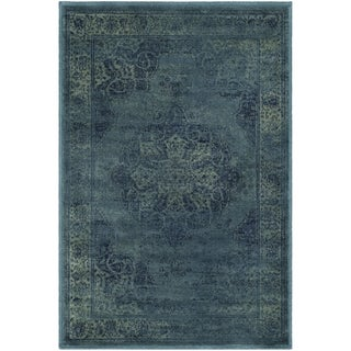Safavieh Vintage Oriental Blue/ Multi Distressed Silky Viscose Rug (2' x 3')