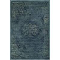 Safavieh Vintage Oriental Blue/ Multi Distressed Silky Viscose Rug - 2'7 x 4'