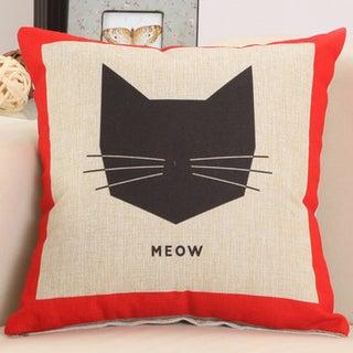Red Box Cat 17.5-inch Decorative Nursery Pillow
