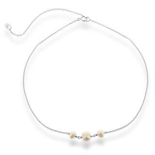 La Preciosa Sterling Silver Freshwater Pearls Choker Necklace