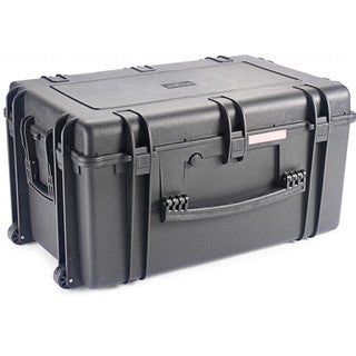 Stagg Black Fiberglass and Rubber Wheeled Universal Transport Case