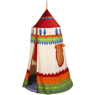 Haba Multicolored Polyester American Indian Hanging Tent https://ak1.ostkcdn.com/images/products/13294370/P20005325.jpg?impolicy=medium