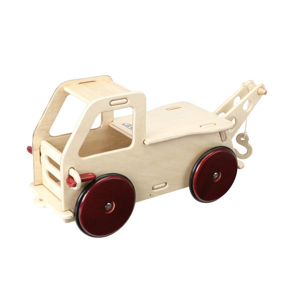 Moover Natural Finish Wood Baby Truck