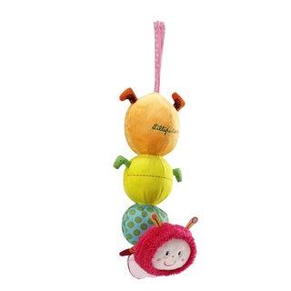 Lilliputiens Juliette the Caterpillar Musical Cuddle Fabric Bedtime Toy
