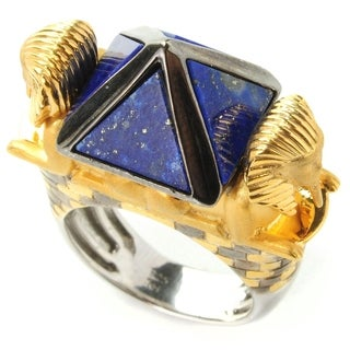 "One-of-a-kind Michael Valitutti Lapis Lazuli ""Pyramid of Khafre & the Great Sphinx"" Ring"