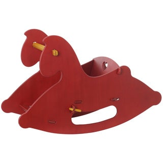 Moover Red Wood Rocking Horse