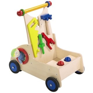 Haba Carpenter Pixie Multicolor Wood Walker Wagon