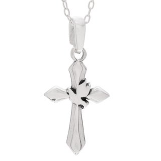 Journee Collection Sterling Silver Cross Pendant Necklace