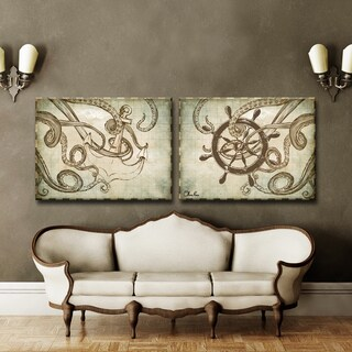 Ready2HangArt Sea Anchor & Ship by Olivia Rose 2-PC Canvas Art Set