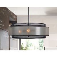 Adriana Blackened Oil Rubbed Bronze 4-light Chandelier