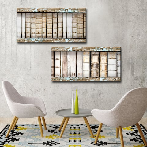 Ready2HangArt 'Vintage Bookshelf' 2-Pc Canvas Art Set
