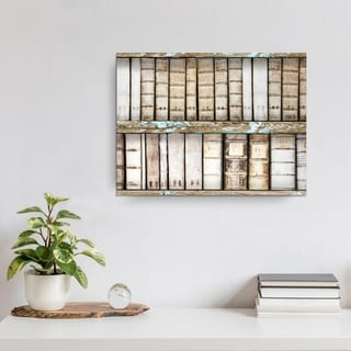 Ready2HangArt Vintage Bookshelf by Olivia Rose Canvas Art