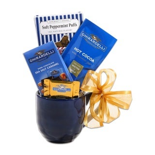 Ghirardelli Blue Holiday Mug Candy Gift Set