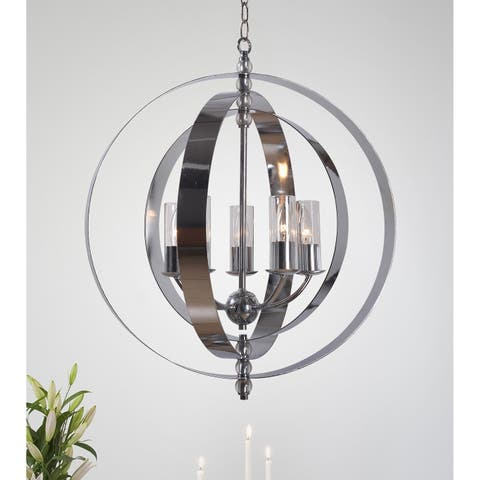 Olivia 5 Light Chandelier - Chrome