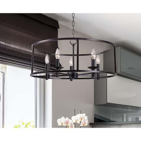 Eileen 5 Light Black Chandelier