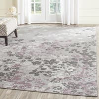 Safavieh Adirondack Vintage Floral Light Grey / Purple Large Area Rug (10' x 14')