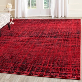 Safavieh Adirondack Modern Abstract Red/ Black Large Area Rug (9' x 12')