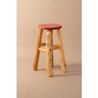 RUSTIC RED CEDAR LOG STOOL (2 options available)