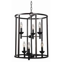 Design Craft Eileen Blackened Oil Rubbed Bronze 6-light Foyer