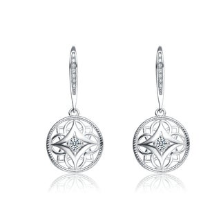 Collette Z Sterling Silver Cubic Zirconia Trendy Drop Earrings