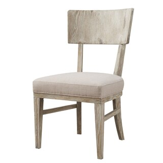 Emerald Synchrony Solid Pine Wood Back Upholstered Seat Dining Chair x2