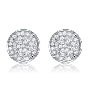 Collette Z Sterling Silver Cubic Zirconia Pave Earrings