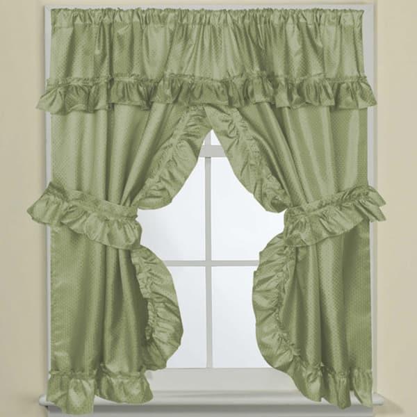 Bathroom Window Curtain Panel Pair