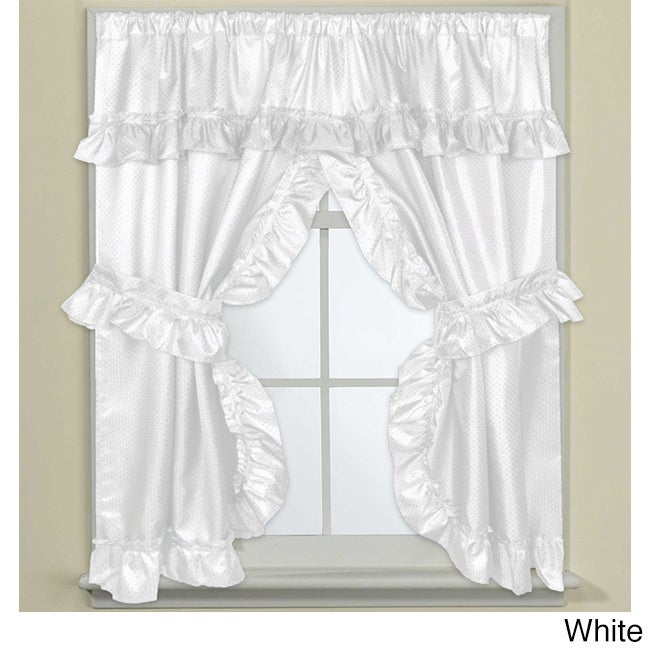 70 inch wide x 45 inch long bathroom window curtain panel pair with tie backs ebay for 36 inch bathroom window curtains