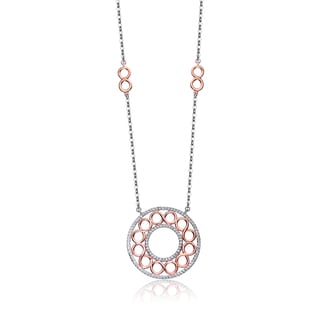 Collette Z Sterling Silver Cubic Zirconia Multi-O Necklace