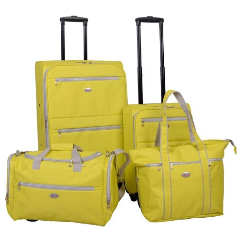 American Flyer Perfect 4 Piece Spinner Luggage Set