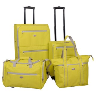 American Flyer Perfect 4-Piece Spinner Luggage Set