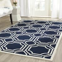 Safavieh Amherst Indoor/ Outdoor Navy/ Ivory Rug (10' x 14')