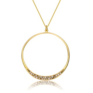 Collette Z Gold Overlay Cubic Zirconia Halo Necklace