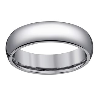 Men's Tungsten 6-millimter 1/2-round Band