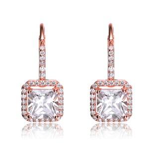 Collette Z Sterling Silver Cubic Zirconia Formal Dangle Earrings