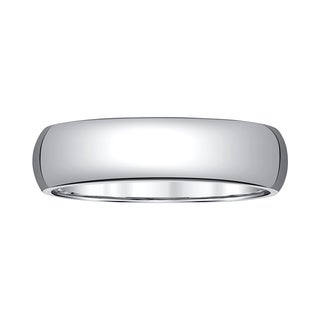 White Tungsten 6-millimeter 1/2-round Men's Band