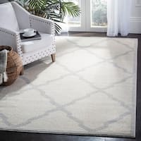 Safavieh Amherst Indoor/ Outdoor Navy/ Beige Rug (10' x 14')