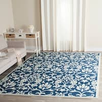 Safavieh Amherst Indoor/ Outdoor Navy/ Ivory Rug - 9' x 12'