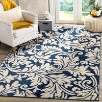 Safavieh Amherst Indoor/ Outdoor Navy/ Ivory Rug - 8' x 10'