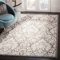 Safavieh Amherst Indoor/ Outdoor Dark Grey/ Beige Rug (10' x 14')