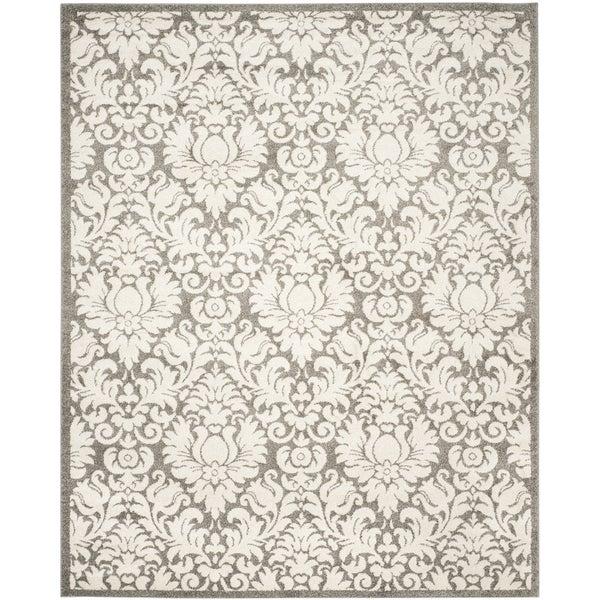 Safavieh Amherst Indoor/ Outdoor Dark Grey/ Beige Rug - 10' x 14'