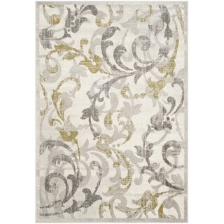 Safavieh Amherst Indoor/ Outdoor Ivory/ Light Grey Rug (10' x 14')