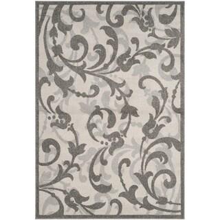 Safavieh Amherst Orpha Modern Indoor/ Outdoor Rug (8 x 10 - Ivory/Grey)