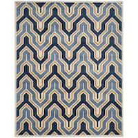 Safavieh Amherst Indoor/ Outdoor Ivory/ Gold Rug - 8' x 10'
