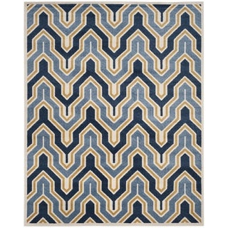 Safavieh Amherst Indoor/ Outdoor Ivory/ Gold Rug (9' x 12')