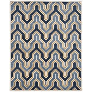 Safavieh Amherst Indoor/ Outdoor Ivory/ Gold Rug (9' x 12')