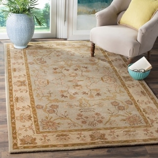 Safavieh Antiquity Traditional Handmade Light Grey/ Beige Wool Rug (8' x 10')