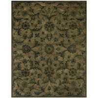 Safavieh Antiquity Traditional Handmade Olive/ Green Wool Rug - 9' x 12'