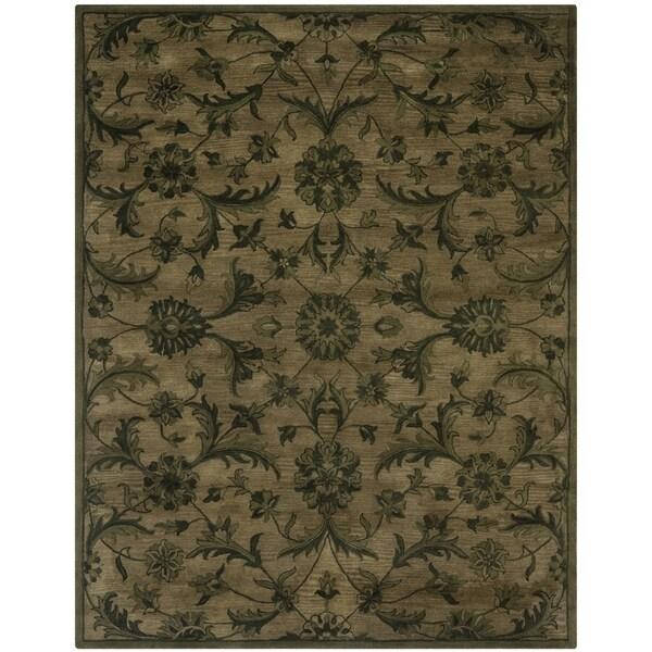 Safavieh Antiquity Traditional Handmade Olive/ Green Wool Rug (9' x 12')